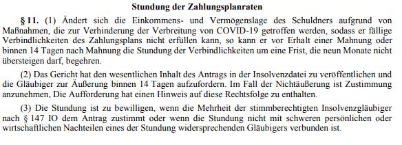 Stundung Zahlungsplanraten §11_1_10.05.21